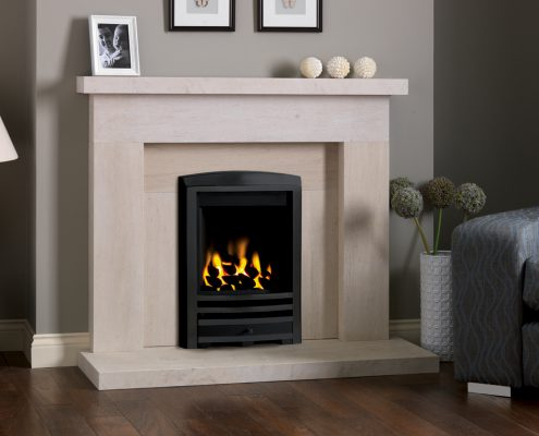 Focus Fireplaces - PARAGON ONE COAL BLACK CAST FASCIA IN BECKFORD PL