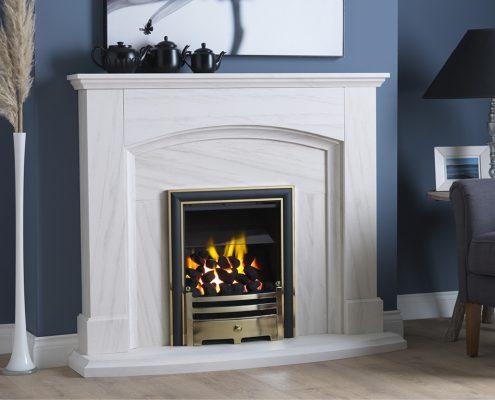 Focus Fireplaces - PARAGON P3 HYBRID ELITE TRIM _ GATE FRET BRASS