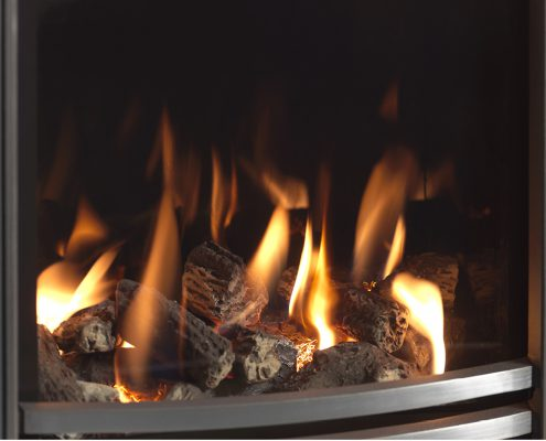 Focus Fireplaces - PARAGON CORE FUEL BED CLOSE UP