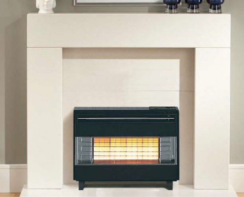 Robinson Willey Gas Fire - Firegem Visa Black/Chrome