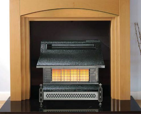 Robinson Willey Gas Fire - Sahara Pewter/Chrome