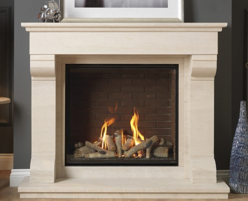 Infinity 800HD Silver Birch Pontesbury Suite Brick Liners - Focus Fireplaces