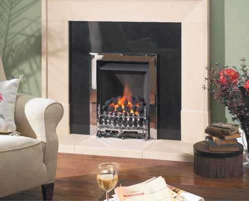 Spirit: Coal Effect Polished Steel Trim - Focus Fireplaces