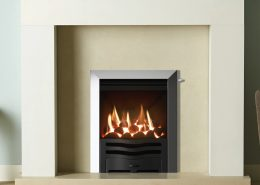 Gazco Logic™ HE Wave Inset gas fire in Matt Black - Focus Fireplaces York