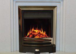 Evonic Kansas Brass inset electric fire