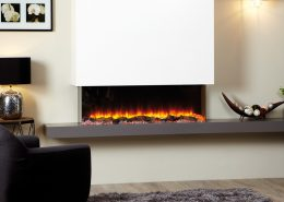 Focus Texas electric fireplace featuring SKOPE