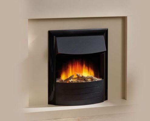 Flamerite Cisco inset electric fire - Black