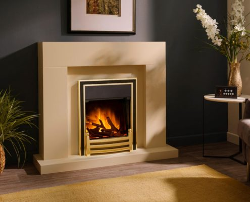 Flamerite Raylia electric inset fire - Black