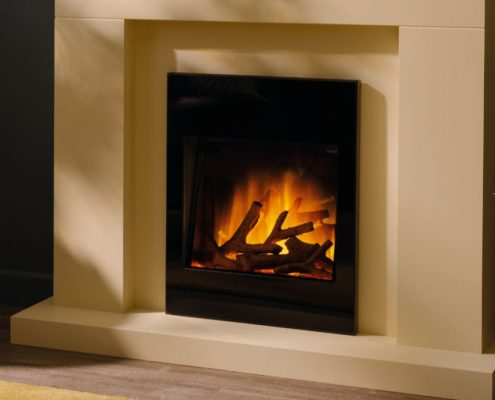 Flamerite Solace electric inset fire - Black