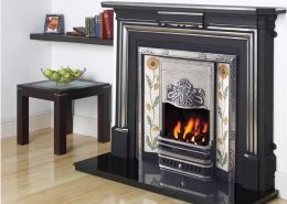 Cast Tec Limerick Cast Iron Mantel with Fully Polished Oxford Insert