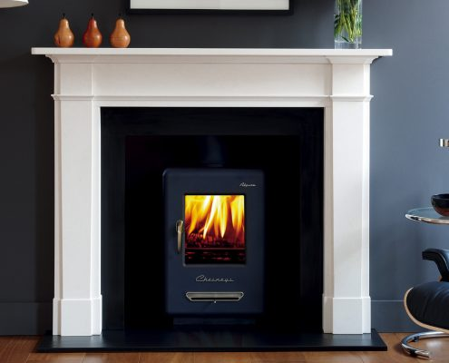 Chesneys Alpine 4 Wood-burning Stove with Devonshire fireplace