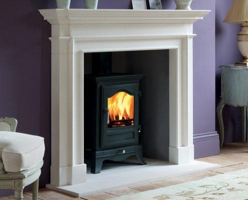 Chesneys Belgravia 8 Multi-fuel Stove with Burlington fireplace
