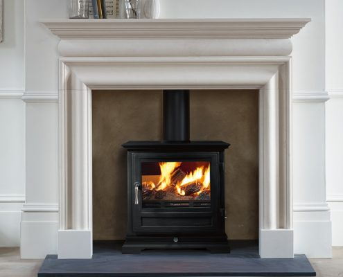 Chesneys Shipton 8 Multi-fuel Stove with Clandon fireplace