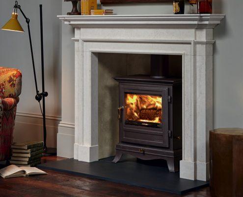 Chesneys Beaumont 8 Wood-burning Stove with Burlington fireplace
