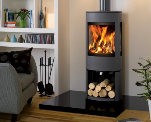 Dovre Astroline 4 Stove with wood store