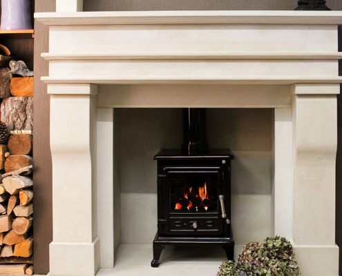 Findley House Cantley - Sandstone fireplace