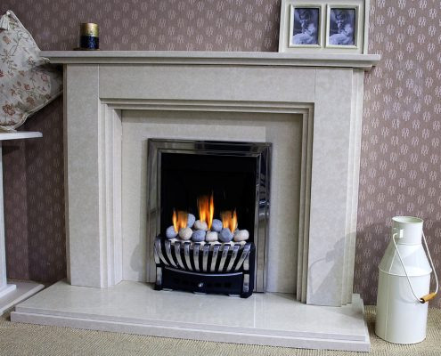 Findley House Telford Micromarble fireplace