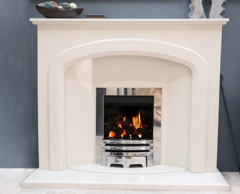 Findley House Hannah - Rigel Micromarble fireplace