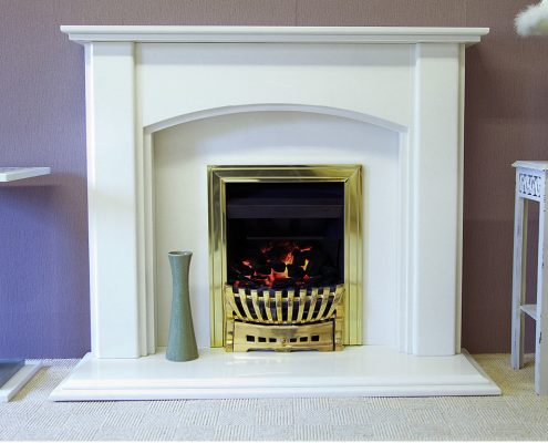 Findley House Charlotte - Rigel micromarble fireplace