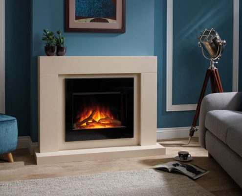 Flamerite Reverie floor standing electric suite