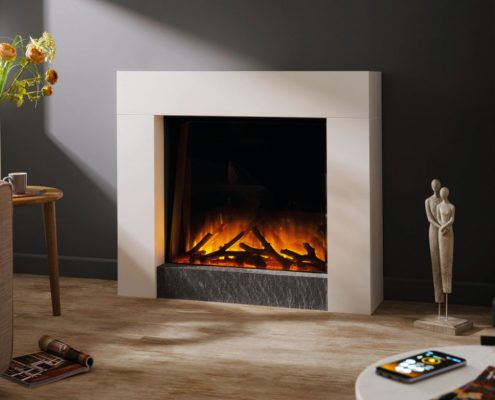 Flamerite Magellan floor standing electric suite