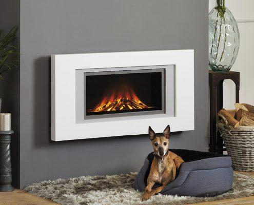 Focus Natasha wall mounted electric fire: Three Shades of Grey