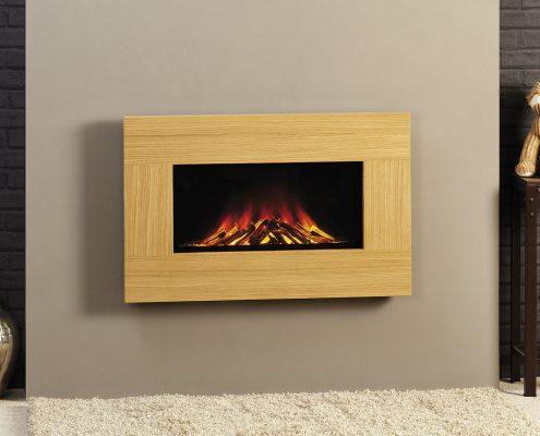 Gazco Radiance inset 50 inset electric fire: Light Oak Finish