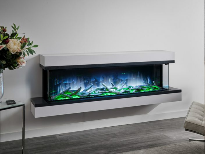 Flamerite Exo 1500 electric modular suite with logs