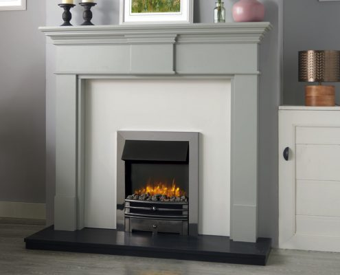 Logic2 Electric Chartwell with Polished Steel effect frame and Highlight polished front