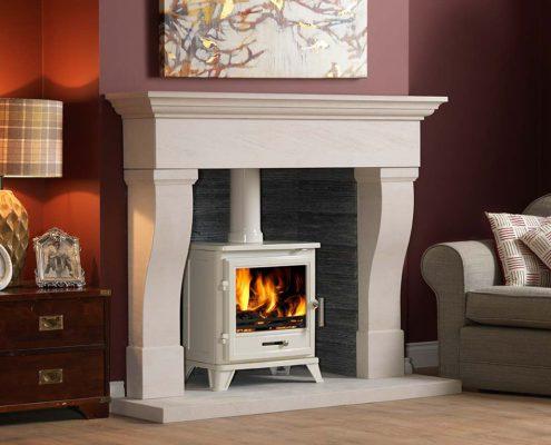 The Penman Collection - Tavira Iberian Limestone Limestone fireplace