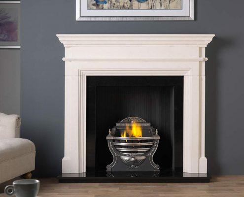 The Penman Collection -Teramo Agean Limestone fireplace