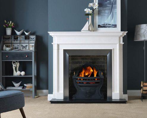 The Penman Collection - Aversa Agean Limestone fireplace