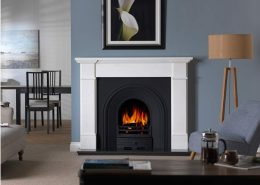The Penman Collection -Velletri Clara Pura natural marble fireplace