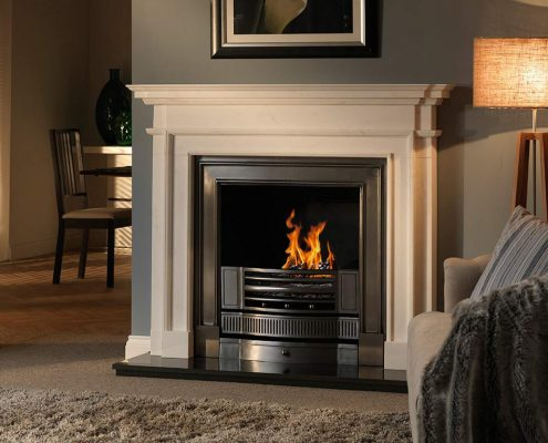 The Penman Collection - Aversa Pura natural marble fireplace