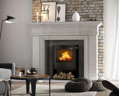 Rais Q 2 Tee C Wood burning Stove