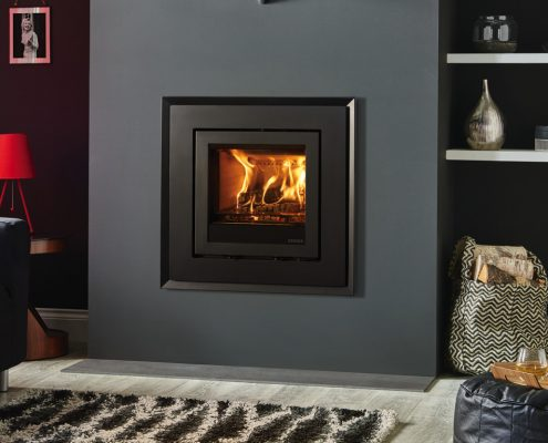 Stovax Elise Evoke 540 Steel inset wood burning and multi-fuel fire