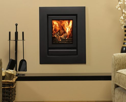 Stovax Riva 40 inset wood burning and multi-fuel fire