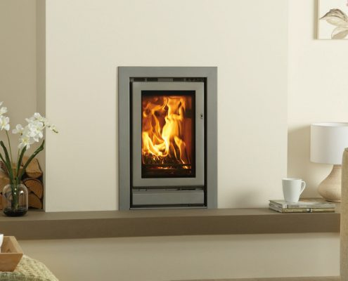 Stovax Riva 45 inset wood burning and multi-fuel fire