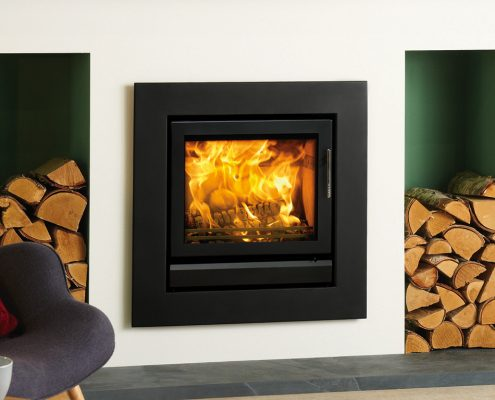 Stovax Riva 50 inset wood burning and multi-fuel fire