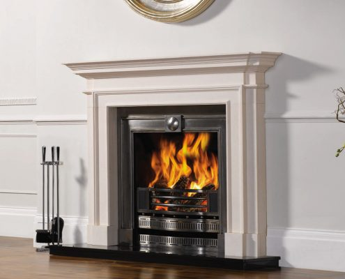 Stovax Sandringham in Natural Limestone with Kensington Polished insert also from Stovax