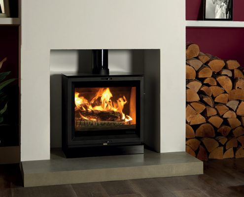 Stovax View 5 Wide woodburner Stove with optional glass top plate