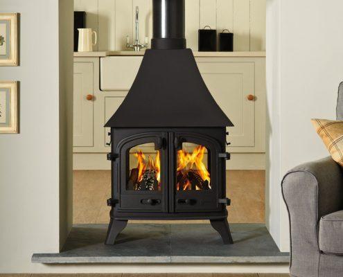 Yeoman Devon double sided Wood burning Multi-fuel Stove