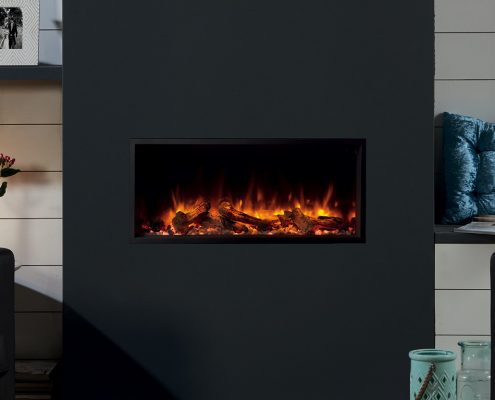 eReflex 85R Inset Electric Fire with Log & Pebble fuel effects