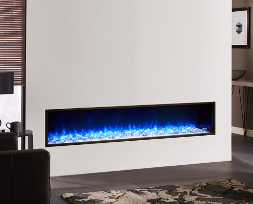 eReflex 110W Electric Fire Trento Right Offset with Crystal Ice-effect