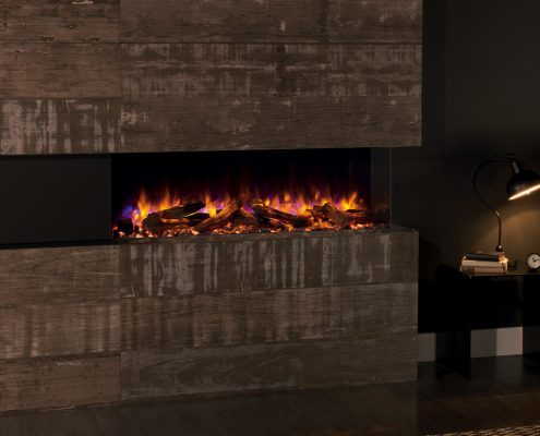 eReflex 110W Outset Electric Fire with Log & Pebble fuel effects