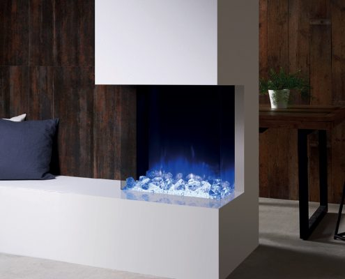 eReflex 55W Outset Electric Fire with Crystal Ice-effect