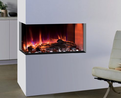 eReflex 70W Outset Electric Fire with Log & Pebble fuel effects