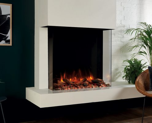 eReflex 75W Outset Electric Fire with Log & Pebble fuel effects