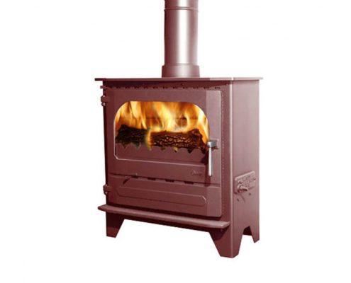 Dunsley Advance 500 Wood burning Stove - Mojave Red