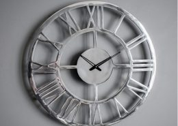 Gallery Direct Pavia Large Wall Clock Polished Aluminium W585 x D45 x H585mm